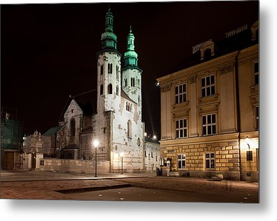 Church Of St. Andrew At Night In Krakow Metal Print by Artur Bogacki