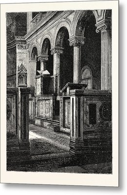 Church Of St. Clemente Metal Print by Italian School
