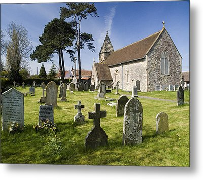 Church Of St John The Evangelist - Kenn - North Somerset Metal Print by Rachel Down