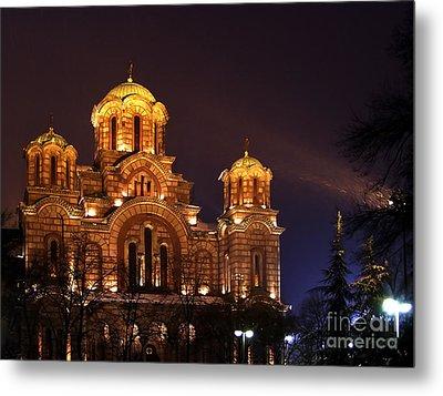 Church Of Sveti Marko Metal Print by Zoran Berdjan