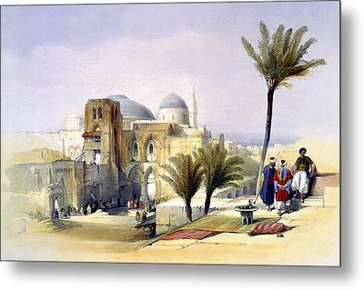 Church Of The Holy Sepulchre In Jerusalem Metal Print by Munir Alawi