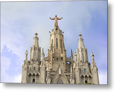 Church Of The Sacred Heart Tibidabo Barcelona  Metal Print