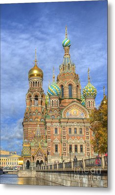 Church Of The Saviour On Spilled Blood. St. Petersburg. Russia Metal Print by Juli Scalzi