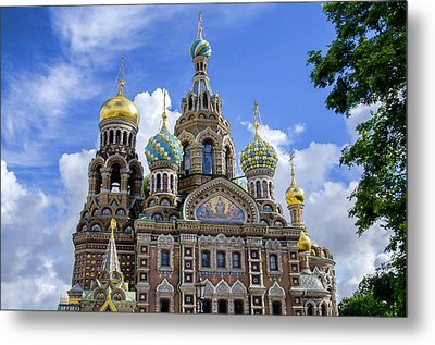 Church Of The Spilled Blood - St Petersburg Russia Metal Print by Jon Berghoff