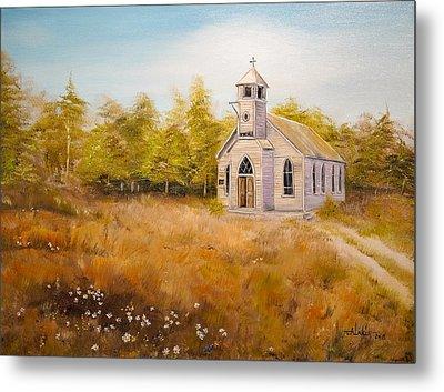 Church On The Hill Metal Print by Alan Lakin