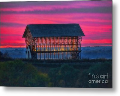 Church On The Hill Metal Print by Elizabeth Winter