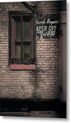 Church Property Metal Print by Gary Heller