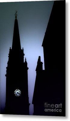 Church Spire At Dusk Metal Print by Craig B