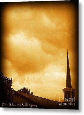 Church Steeple Metal Print by Bobbee Rickard