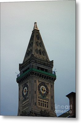 Metal Print featuring the photograph Church Steeple In Boston by Gena Weiser