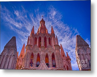 Church Steeple Metal Print by Nicola Fiscarelli