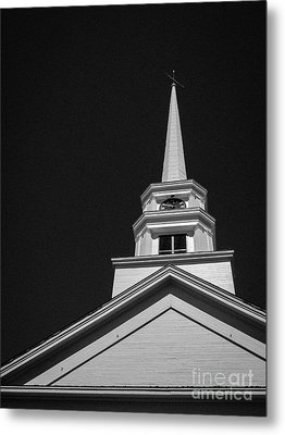 Church Steeple Stowe Vermont Metal Print by Edward Fielding