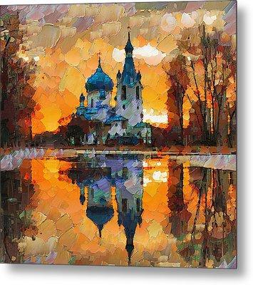 Church Sunset Metal Print by Yury Malkov
