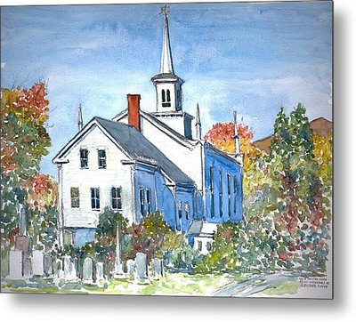 Church Vermont Metal Print by Anthony Butera