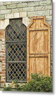Church Window - Liberia Antigua Metal Print by Gary Slawsky