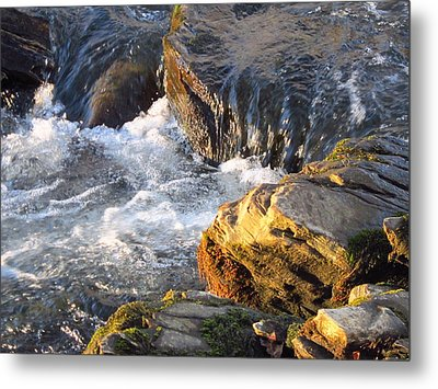Churning Little Waterfalls On The Watauga Metal Print