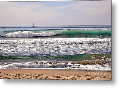 Churning Surf At Monterey Bay Metal Print by Susan Wiedmann