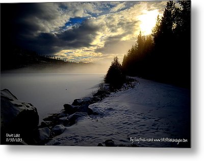 Chute Lake Winter Metal Print