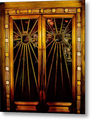 Cicada Club Doors Metal Print by Joseph Hollingsworth