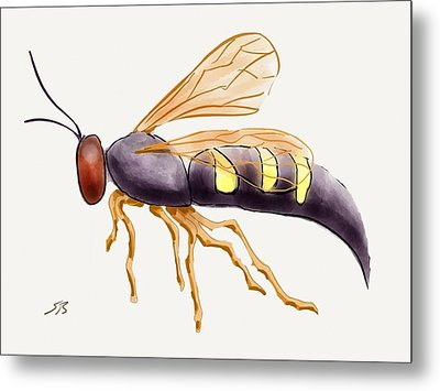 Cicada Killer Wasp Metal Print by Stacy C Bottoms