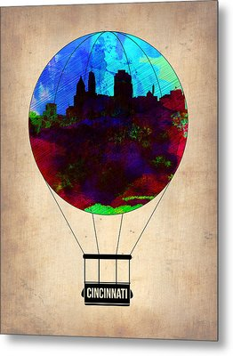 Cincinnati Air Baloon Metal Print by Naxart Studio