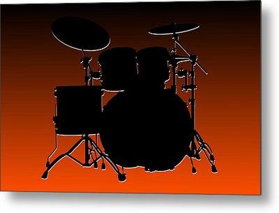 Cincinnati Bengals Drum Set Metal Print by Joe Hamilton