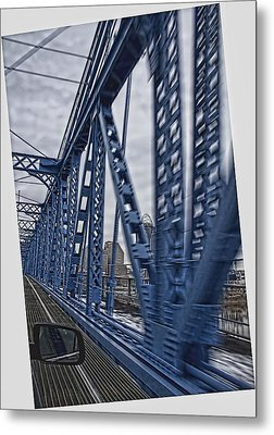 Cincinnati Bridge Metal Print
