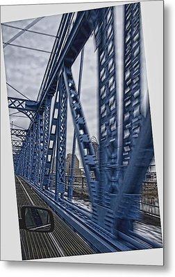 Metal Print featuring the photograph Cincinnati Bridge by Daniel Sheldon