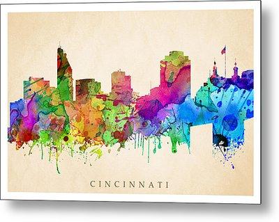 Cincinnati Cityscape Metal Print