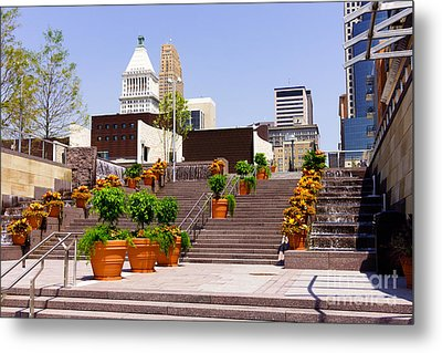Cincinnati Downtown Central Business District Metal Print by Paul Velgos