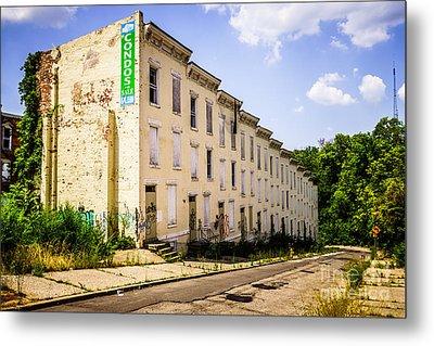Cincinnati Glencoe-auburn Row Houses Picture Metal Print