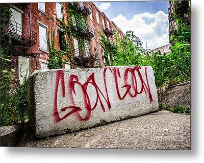 Cincinnati Glencoe Hole Graffiti Picture Metal Print by Paul Velgos