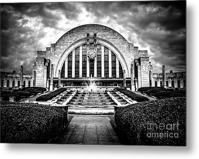 Cincinnati Museum Center Black And White Picture Metal Print by Paul Velgos