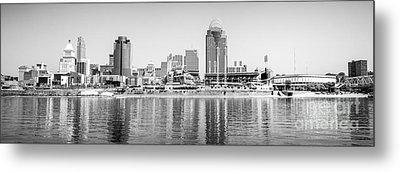 Cincinnati Panorama Black And White Picture Metal Print by Paul Velgos