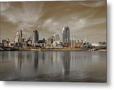 Cincinnati Riverfront Metal Print