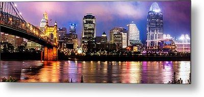 Cincinnati Skyline Panorama Metal Print by Gregory Ballos
