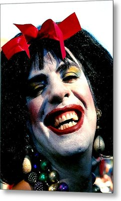 Metal Print featuring the photograph Cindafella Mardi Gras In New Orleans by Michael Hoard