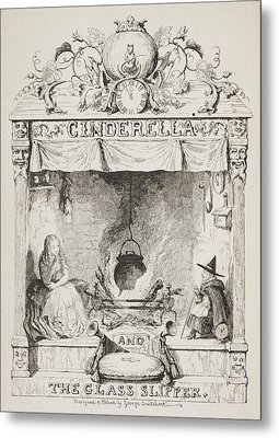 Cinderella And The Glass Slipper Metal Print by British Library