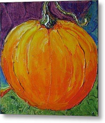 Cinderella Pumpkin Metal Print by Paris Wyatt Llanso