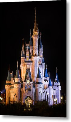 Cinderella's Castle In Magic Kingdom Metal Print