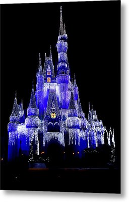 Metal Print featuring the photograph Cinderella's Castle by Laurie Perry