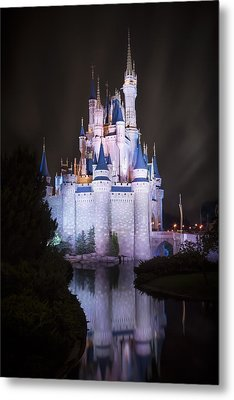 Cinderella's Castle Reflection Metal Print