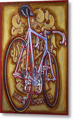 Cinelli Laser Bicycle Metal Print by Mark Howard Jones