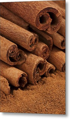 Cinnamon Sticks 2 Metal Print by John Brueske