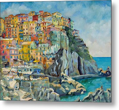 Cinque Terre Metal Print by Chris Brandley