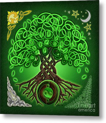 Circle Celtic Tree Of Life Metal Print