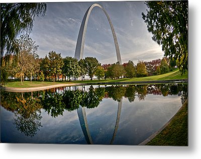 Metal Print featuring the photograph Circle Of Reflection by Deborah Klubertanz