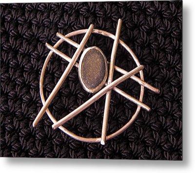 Circle Stone Metal Print