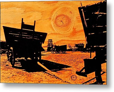 Circle The Wagons Metal Print by Mike Flynn