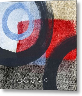 Circles 1 Metal Print by Linda Woods